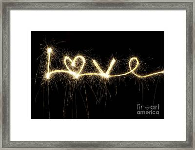 Love Shines Brightly Framed Print by Tim Gainey
