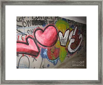 Love. Street Graffiti Framed Print by Ausra Huntington nee Paulauskaite