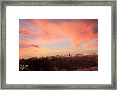 Love Sunset Framed Print by Augusta Stylianou