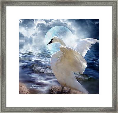 Love Swept Framed Print by Carol Cavalaris