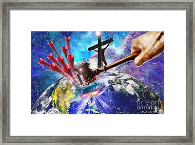 Love That Shook The World Framed Print by Dolores Develde
