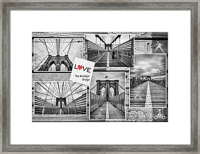 Love The Brooklyn Bridge Framed Print by John Farnan