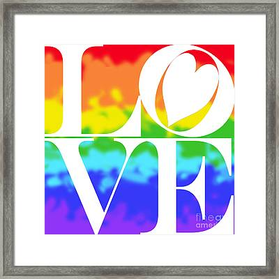 Love The Rainbow Framed Print by Mariola Bitner
