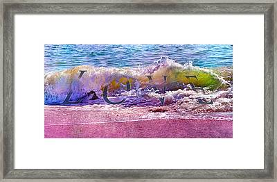 Love The Wave Framed Print by Betsy C Knapp