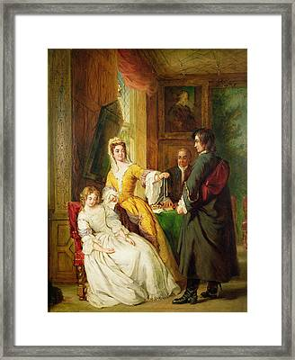 Love Token Framed Print by William Powell Frith