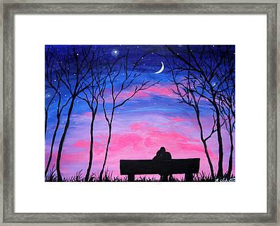 Love Under The Stars Framed Print by Amy Scholten