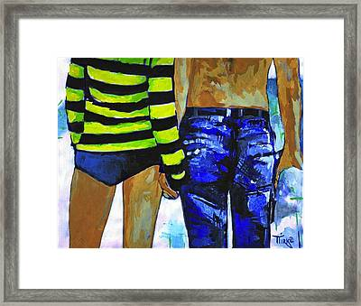 Love You And Me Framed Print by Mirko Gallery