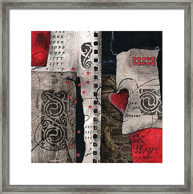 Love You Forever Framed Print by Laura  Lein-Svencner