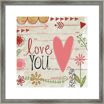 Love You Framed Print by Katie Doucette