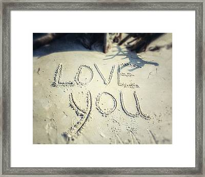 Love You Framed Print by Lisa Russo