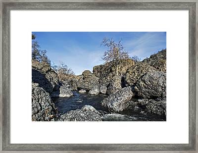 Lovejoy Basalt Formations  Framed Print by Abram House