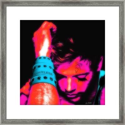 Loveless Soft Pink Framed Print by Jean raphael Fischer