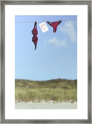 Loveletter From Cloud 9 Framed Print by Joana Kruse