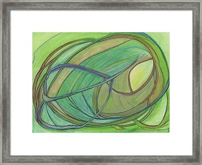 Loveliness Arises Framed Print by Kelly K H B