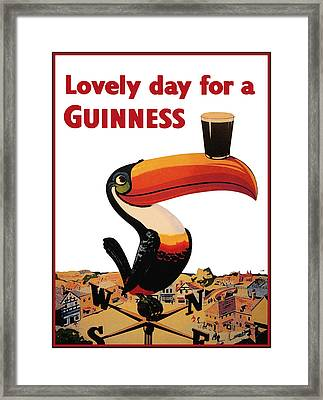 Lovely Day For A Guinness Framed Print by Nomad Art