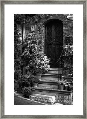 Lovely Entrance In Black And White Framed Print by Prints of Italy