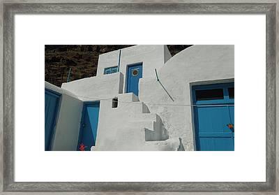 lovely Thirasia Santorini Hause Greece Framed Print by Colette V Hera  Guggenheim