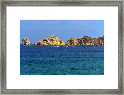 Lovers Beach Cabo Framed Print by Christine Till