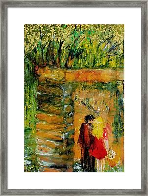 Lovers Framed Print by Evelina Popilian
