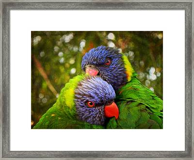 Lover's Glance Framed Print by Leah Moore