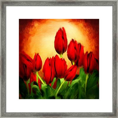 Lover's Hearts Framed Print by Lourry Legarde