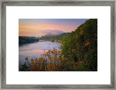 Lovers Leap Sunrise Framed Print by Bill Wakeley