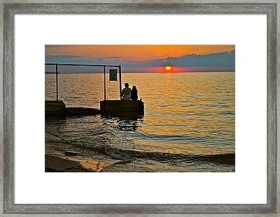 Lovers Overlook Framed Print by Frozen in Time Fine Art Photography