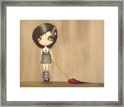 Love's A Drag Framed Print by Sour Taffy