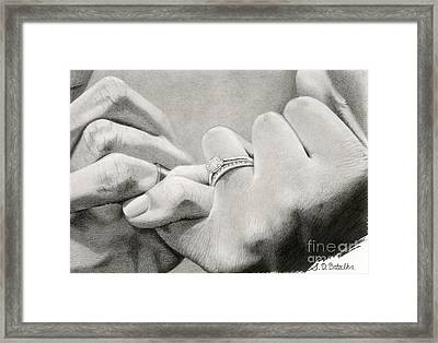 Love's Promise Framed Print by Sarah Batalka