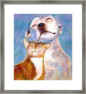 Lovey Dovey Framed Print by Marie Stone Van Vuuren