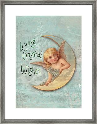 Loving Angel Wishes Framed Print by Sarah Vernon