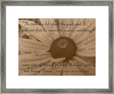 Loving Daisy Framed Print by Barbara St Jean