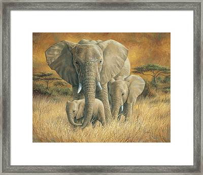 Loving Mother Framed Print by Lucie Bilodeau