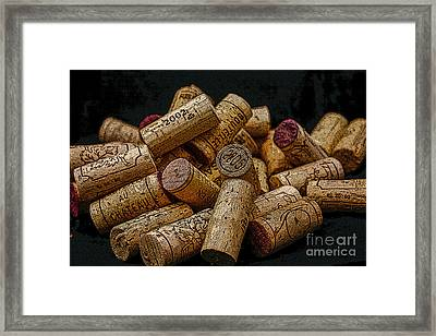 Loving Wine Framed Print by Patricia Hofmeester