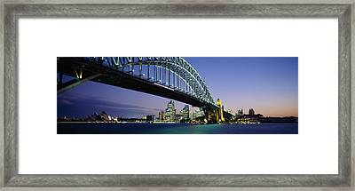 Low Angle View Of A Bridge, Sydney Framed Print by Panoramic Images