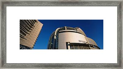 Low Angle View Of A City Hall, Downtown Framed Print by Panoramic Images