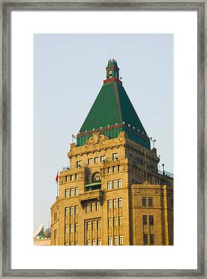Low Angle View Of A Hotel, Peace Hotel Framed Print by Panoramic Images