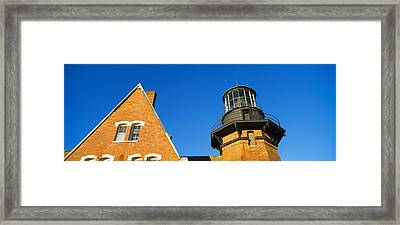 Low Angle View Of A Lighthouse, Block Framed Print by Panoramic Images