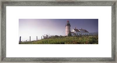Low Angle View Of A Lighthouse, West Framed Print by Panoramic Images