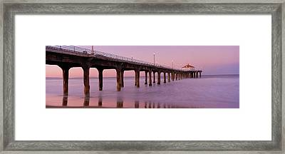 Low Angle View Of A Pier, Manhattan Framed Print by Panoramic Images