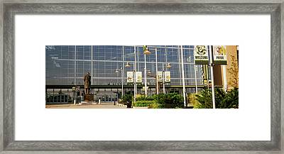 Low Angle View Of A Stadium, Lambeau Framed Print by Panoramic Images
