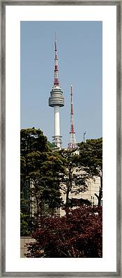 Low Angle View Of A Tower, N Seoul Framed Print by Panoramic Images
