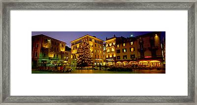 Low Angle View Of Buildings, Piazza Framed Print by Panoramic Images