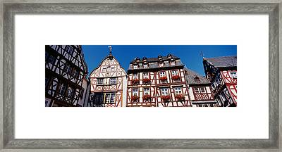 Low Angle View Of Decorated Buildings Framed Print by Panoramic Images