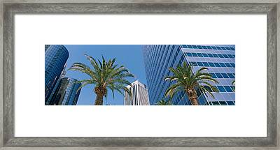 Low Angle View Of Downtown Office Framed Print by Panoramic Images