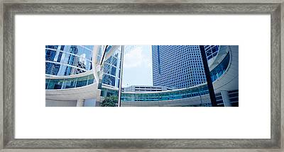 Low Angle View Of Skyscrapers, Enron Framed Print by Panoramic Images