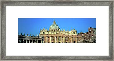 Low Angle View Of St. Peters Basilica Framed Print by Panoramic Images