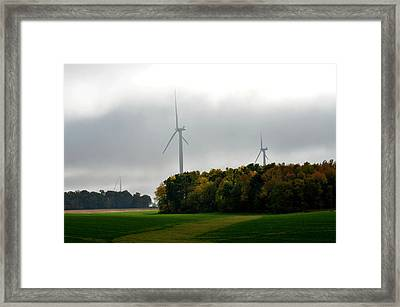 Low Ceiling For Wind-turbines Framed Print by Larry Jones