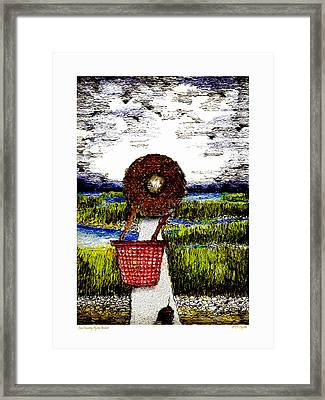Low Country Oyster Basket Framed Print by C F  Legette