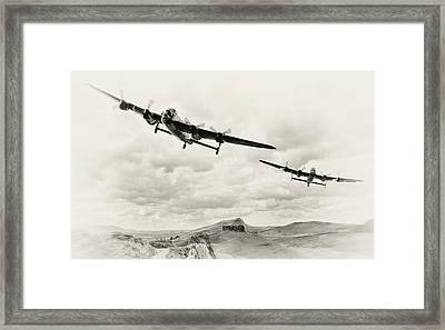 Low Lancs Framed Print by Peter Chilelli